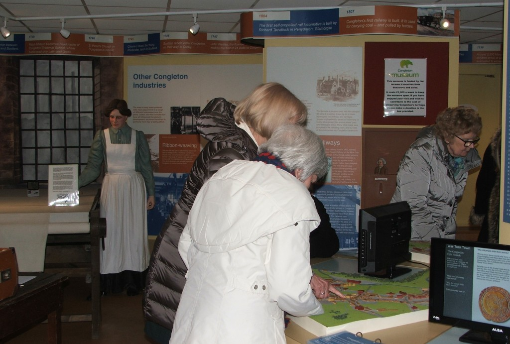 15th February Timbersbrook Women's Institute on an evening visit to Congleton Museum 1