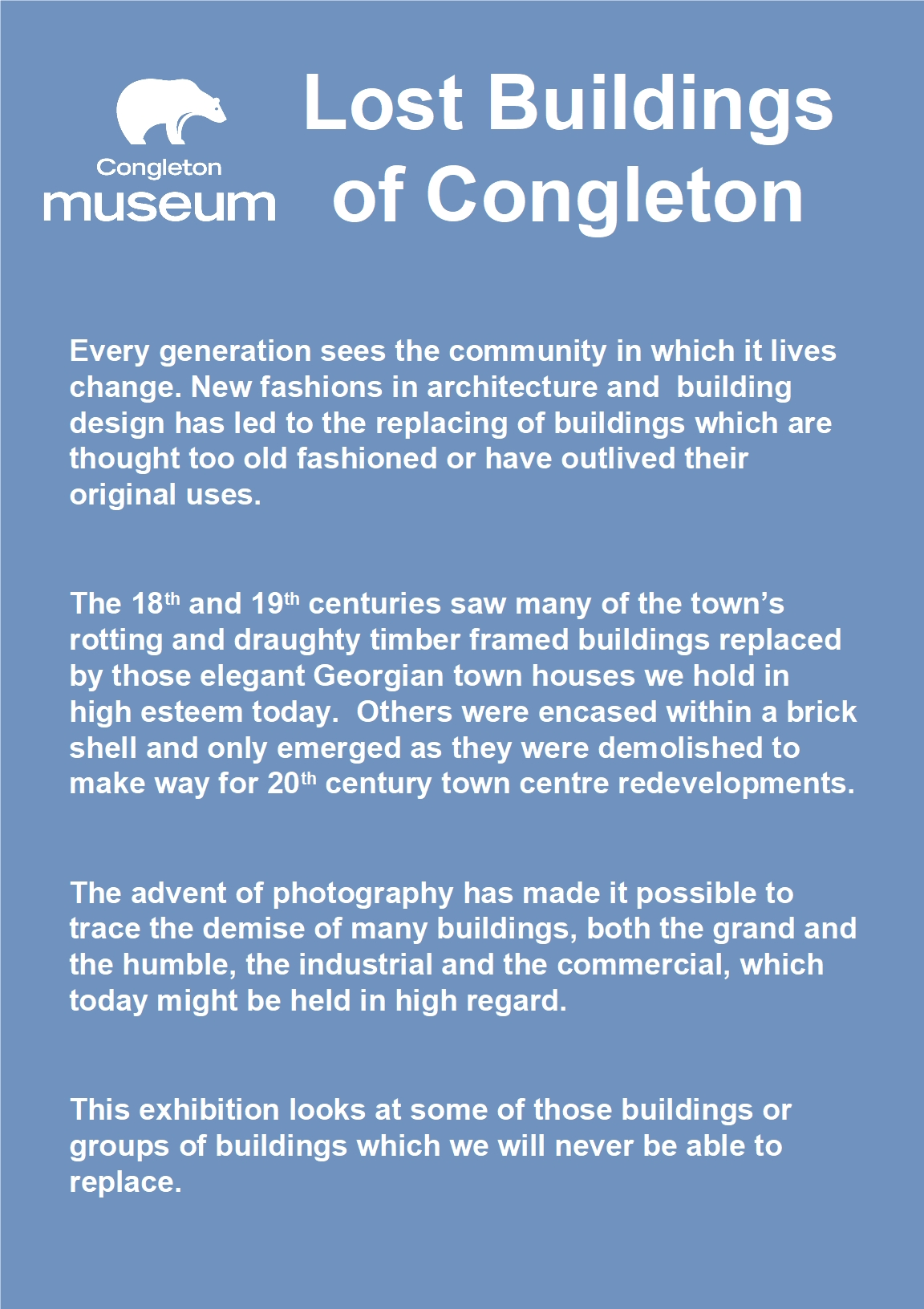 Lost Buildings of Congleton