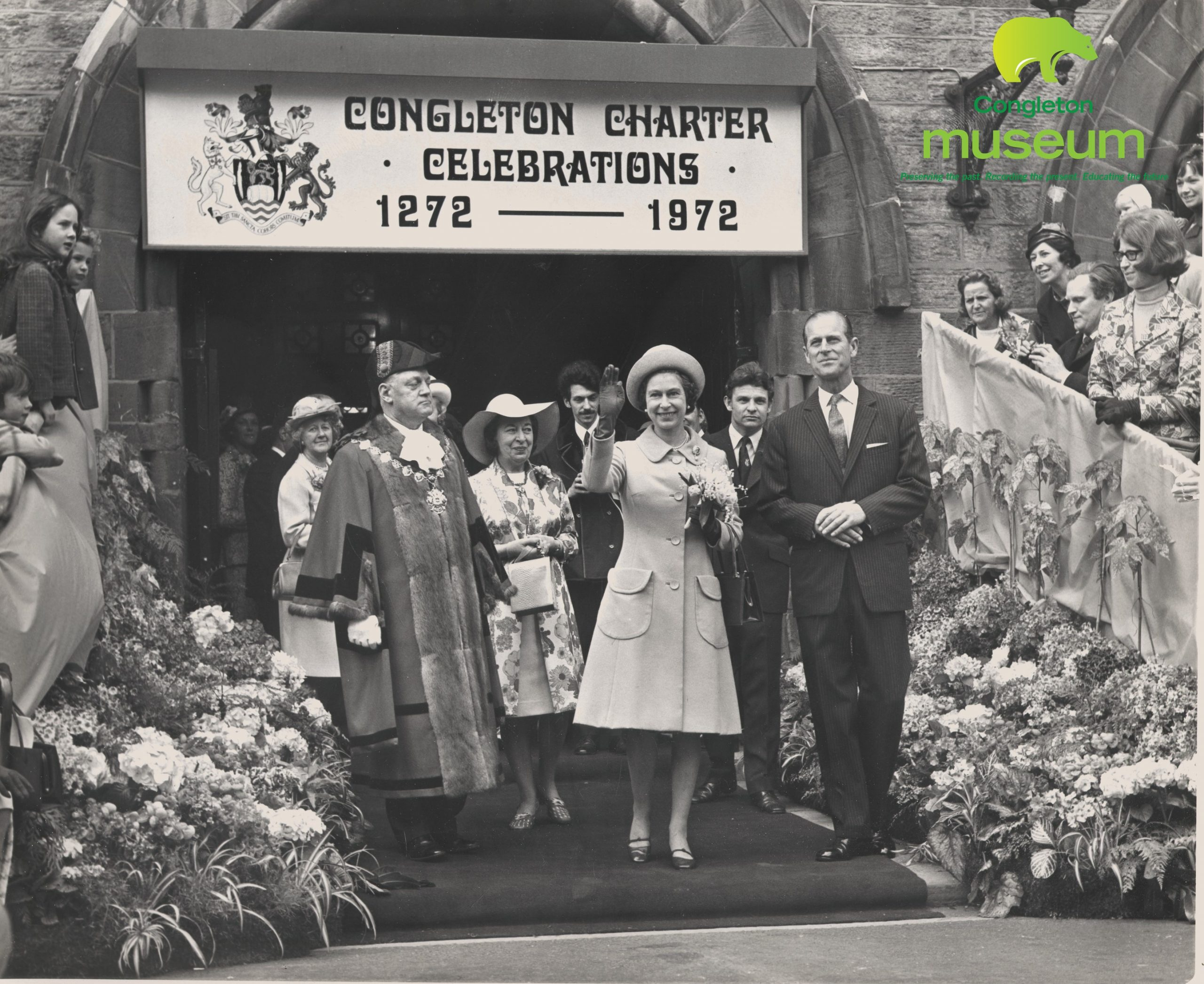 The Queen visits Congleton 1972
